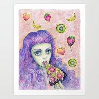 Bebe Food  Art Print