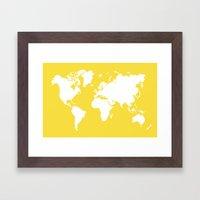 Map 4x6 Framed Art Print