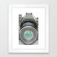 Old Canon AE-1 Camera Framed Art Print