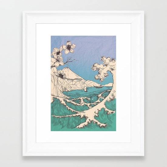 waved Framed Art Print