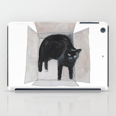black cat box iPad Case