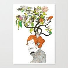 Thinking Green Canvas Print