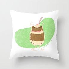 Strawberry Mocha Parfait Throw Pillow