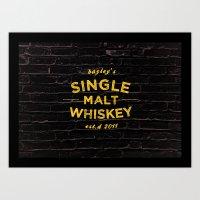 Single Malt Art Print