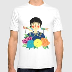 Flower Kite SMALL Mens Fitted Tee White
