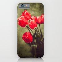 Red tulips  iPhone 6 Slim Case