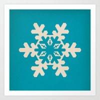 Snowflake, Winter, Chris… Art Print