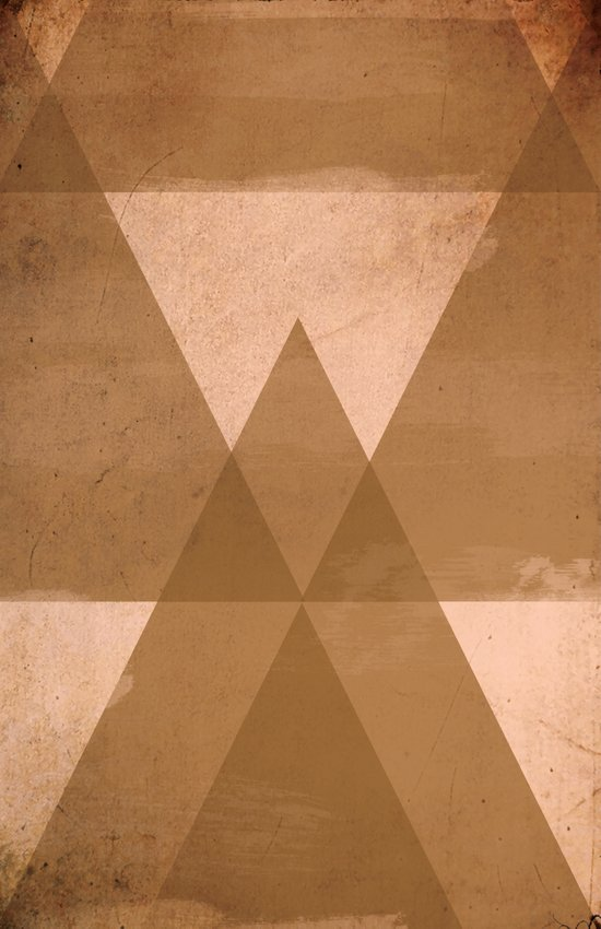 Distressed Triangles Canvas Print