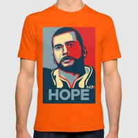 Mass Effect : HOPE Mens Fitted Tee Orange SMALL