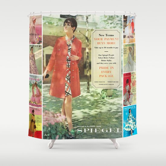 1969 - Spring SUmmer Catalog Cover Shower Curtain