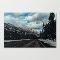 Driving in the North Cascades Canvas Print