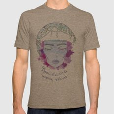 beautiful mind Mens Fitted Tee Tri-Coffee SMALL