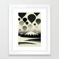 Morning wind balloons Framed Art Print