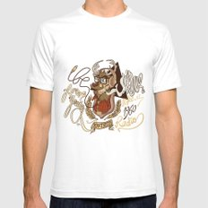 Oh my Deer (be unique and forever young like a 1960 radio) Mens Fitted Tee White SMALL