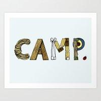 CAMP. Art Print