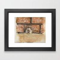 Afraid (Embrace) Framed Art Print