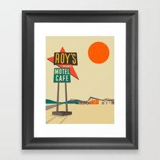 Roy's Cafe, Route 66 Framed Art Print