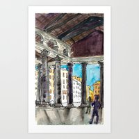 Deep Shadows Above Art Print