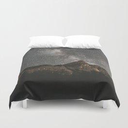 Duvet Cover - Milky Way Over Mountains - Landscape Photography - regnumsaturni