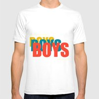 Boys Boys Boys Mens Fitted Tee White SMALL