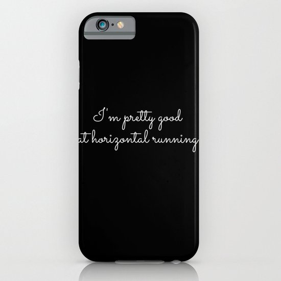 horizontal running #1 iPhone & iPod Case
