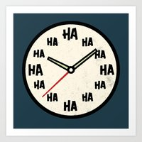 The Laughing Clock Art Print