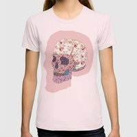 Liberty Skull Womens Fitted Tee Light Pink SMALL