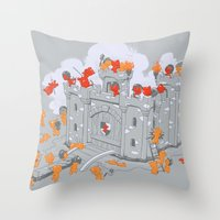 The Siege Throw Pillow