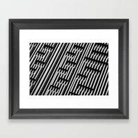 01111010 01101001 01100111 01111010 01100001 01100111 Framed Art Print