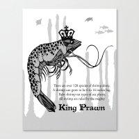 King Prawn Canvas Print