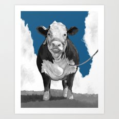 Welcome to the Pasture 2 Art Print