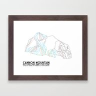 Cannon Mountain, NH - Mi… Framed Art Print
