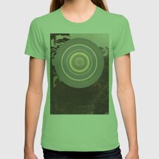 Washed Out Womens Fitted Tee Grass SMALL