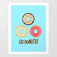 Go doNUTS! Art Print