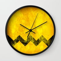 Distressed Charlie Brown Wall Clock