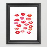 le baiser Framed Art Print