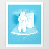 Save The Polar Bears, Ma… Art Print