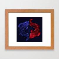 Fishes Yin-yang Framed Art Print