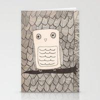 Jeffery The Owl Stationery Cards
