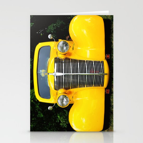 Yellow Chevy Stationery Card