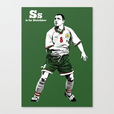 S is for Stoichkov Canvas Print