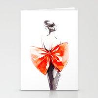 Elegance In Orange Stationery Cards