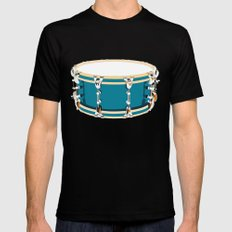 Drum - Red Mens Fitted Tee SMALL Black