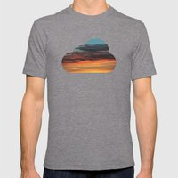 CLOUDS Mens Fitted Tee Tri-Grey SMALL