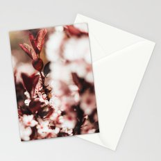 Red Leaf Blossom Stationery Cards