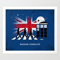 Doctor Who on Abbey Road! Keep Calm and Rock On! Harry Potter Art Print