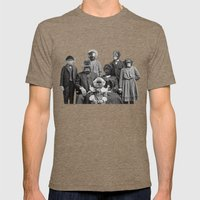 Monkey Family Mens Fitted Tee Tri-Coffee SMALL