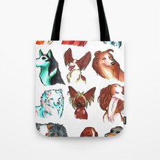 Brush Breeds Compilation Tote Bag