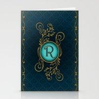 Monogram R Stationery Cards