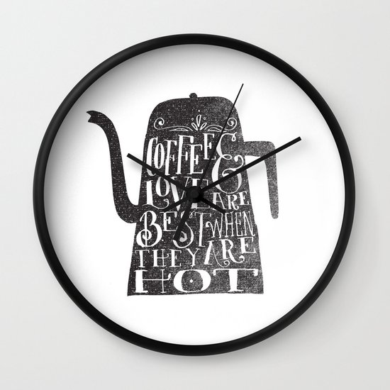 COFFEE & LOVE Wall Clock
